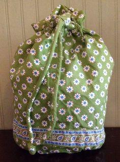 Vera Bradley Green Apple Paisley Daisy Wet Ditty Bag Drawstring Plastic Lined  #VeraBradley #ShoulderBag