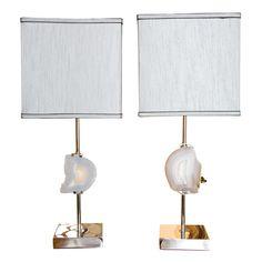Pair of Agate lamps