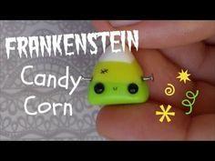 Kawaii Frankenstein Candy Corn polymer clay tutorial