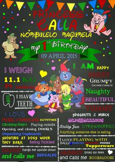 Gummy Bears 1st Birthday Chalkboard