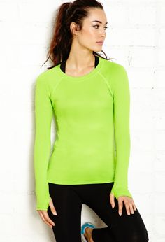 Reflective Trim Running Top | FOREVER21 - 2000112068