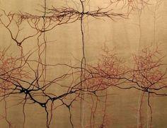 East Asian ink brush painting of neurons, Greg Dunn Greg Dunn, Brain Art, Virtual Art, Art Plastique, Science Nature, Science Geek, Screen Printing, Art Projects, Art Gallery