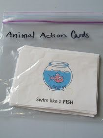 Pinning with Purpose: Kid Exercise/Action Cards