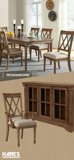 Dining Rooms · From Kaneu0027s Furniture · Classic Style And Detailed  Craftsmanship Come Together In The Rossmore Dining Set. Its Distressed  Caramel