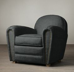 EXPENSIVE, resotation hardware chair for den  Duncan Upholstered Club Chair