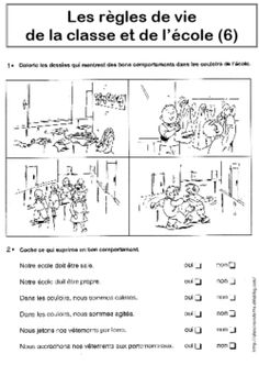 REGLES DE VIE CP/CE1