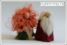 Christmas Dudes - needle felt free tutorial for Christmas decorations by Gabby Dexter at Flippity Felts