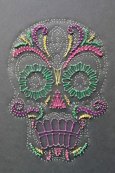 string art candy skull