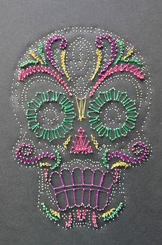 string art candy skull