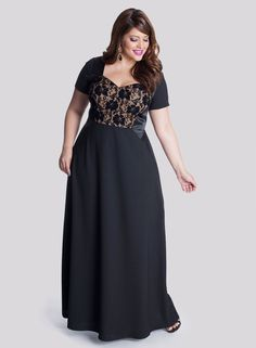 Liv Plus Size Gown in Onyx - Just In by IGIGI