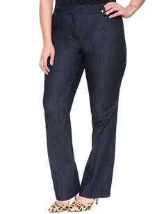 Plus Size Refined Trouser Jean From the Plus Size Fashion Community at www.VintageandCurvy.com