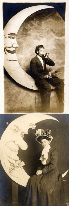 Man and Woman in the moon