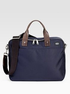 897aacf4c8f5 Jack Spade - Blue Leather-Trimmed Nylon Briefcase for Men - Lyst