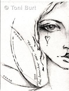 she knew her own worth - message to self! art journal sketch in graphite - angel wings, angel girl, art journaling