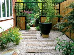 Japanese style backyard