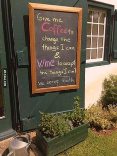 Excellent coffee shop sign!
