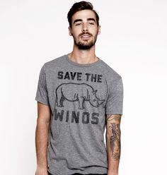 Save the Winos! We've partnered with the International Rhino Fund to donate a portion of the proceeds from this shirt to rhino conservation. Ultrasofttriblend