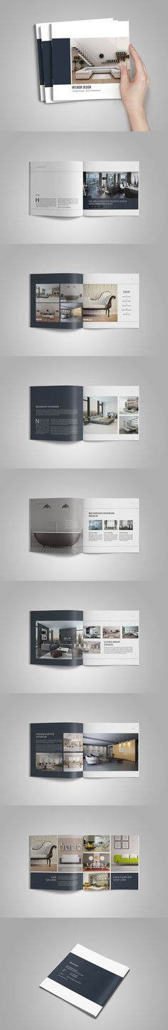 Portfolio Brochure Catalogs Template InDesign INDD - 16 Pages Buch- und Zeitschr. Graphisches Design, Logo Design, Print Design, Design Ideas, Portfolio Design, Portfolio Layout, Booklet Layout, Brochure Layout, Brochure Template