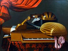 Still Life with Musical Instruments by Bartolomeo Bettera
