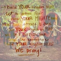 Build your kingdom here - Rend Collective Experiment.  My new favorite Christian band. Plus they're Irish!:D