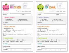 {Free Printable} School Notes, Redesigned!