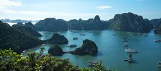 Halong Bay in Quang Ninh province Bai Tu Long Bay, Ha Long Bay, Tourist Sites, Tourist Places, Travel Route, Train Travel, Good Morning Cat, Cat Ba Island, North Vietnam