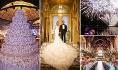 Million dollar budgets just for flowers, a cake so tall the bride and groom need a ladder to cut it, and giant gowns: Inside the world's most extravagant weddings