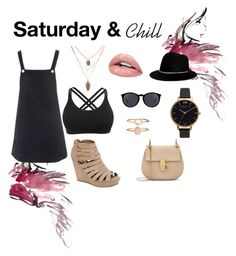 """Saturday & Chill"" by alejandravi on Polyvore featuring Topshop, Madden Girl, Olivia Burton, Accessorize, Yves Saint Laurent and Janessa Leone"