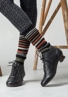 Striped knee-highs in cotton/polyamide/elastane – Accessories – GUDRUN SJÖDÉN – Webshop, mail order and boutiques | Colourful clothes and home textiles in natural materials.