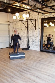Build a Budget-Friendly At-Home Gym With These Tips From Celebrity Trainer Erin Oprea Home Gym Basement, Home Gym Garage, Diy Home Gym, Gym Room At Home, Home Gym Decor, Best Home Gym, Garage House, Basement Ideas, Workout Room Decor