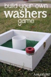 Fun DIY Backyard Games - DIY Washers Game - Cool DIY Yard Game Ideas for Adults, Teens and Kids - Easy Tutorials for Cornhole, Washers, Jenga, Tic Tac Toe and Horseshoes - Cool Projects for Outdoor Parties and Summer Family Fun Outside