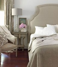 Luscious bedrooms - mylusciouslife.com -  monochromatic master. romantic. tracery interiors.