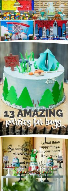 Best Birthday Party Themes for Boys via @spaceshipslb