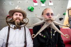 Over 300 contestants from around the world have gathered for the World Beard And Moustache Championships in Leogang, Austria Beards And Mustaches, Moustaches, Beard Competition, World Most Beautiful Place, Kodak Moment, Epic Beard, Full Beard, Strange Photos, Bizarre