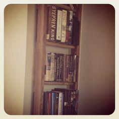 An old ladder bookshelf.