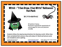 FREE Witch I Can Draw I Can Write Halloween Fun Pack