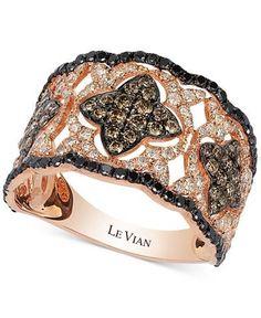 Le Vian Diamond Vintage-Inspired Ring in 14k Rose Gold (1-1/3 ct. t.w.)