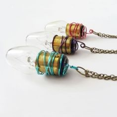 Upcycle old lightbulbs to create a fun quirky necklace
