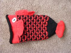 Knitted Kid's Fish Hat :D