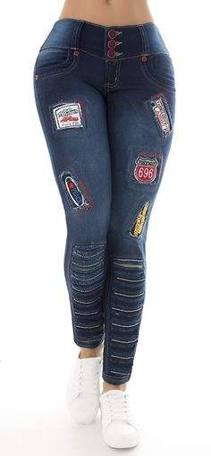 Jeans levanta cola WOW 86107 - Jeans Colombianos