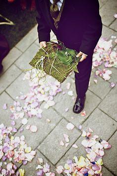 moss pillow cool idea if we were having a ring bearer. Lol