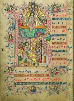 Codex Gisle, ca. 1280-1295 Confitemini with singing angels, fol. 68v