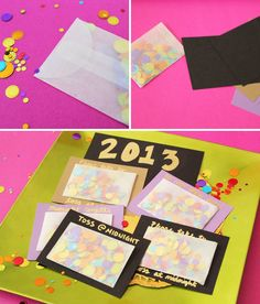DIY - New Years Eve Confetti Envelopes