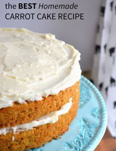 This carrot cake recipe is absolutely the best and simplest homemade version out there. You will never look for another one again!