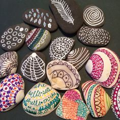 Stones, shells and sharpies