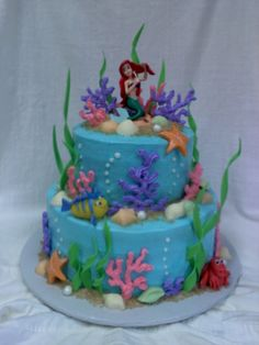 Ariel And Friends Birthday Cake
