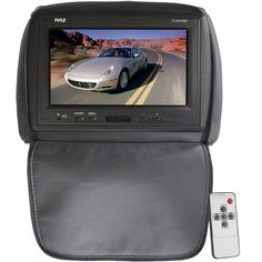 Adjustable Headrest/ Built-In 9'' TFT-LCD Monitor with IR Transmitter (Black Color)