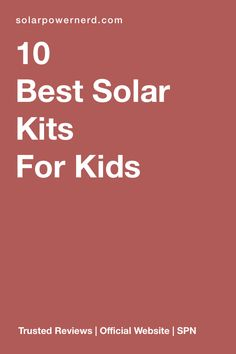 The 10 best solar kits for kids. This is a great chance for your kids to learn more about solar energy and how it works. It also helps your children get on the right path toward thinking about sustainability, minimalism and natural living. Solar Energy For Kids, Uses Of Solar Energy, Solar Power Kits, Solar Energy Panels, Solar Energy System, Off Grid Solar, Solar Powered Lights, Solar Lights, Help The Environment