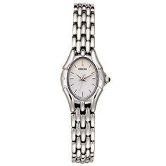 Seiko Women's SXGM23 Watch Seiko. $99.00. Water-resistant to 165 feet (50 M). Quality Japanese-Quartz movement. Stainless-steel case; Pink dial. Hardlex crystal. Save 56% Off!