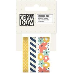 Posh Washi Tape 36 Total High Style 1 15mm 2 7mm